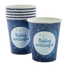 Boldog Születésnapot pohár - Kék 6 db/cs