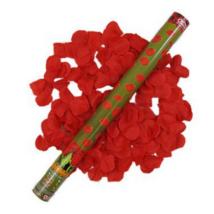 Piros rózsaszirom konfetti ágyú 60 cm