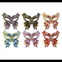 Csillámos pillangó maszk több színben GM620