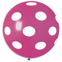 80 cm-es léggömb pink teli pöttyös gumi lufi