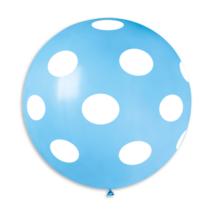 80 cm-es babakék  pöttyös kék gumi lufi