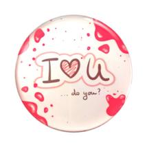 Hűtőmágnes I love You do you ? felirattal