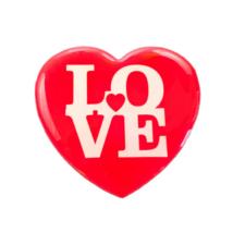 Hűtőmágnes Szív alakú, Love felirattal