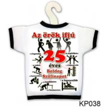 Üvegre húzható póló 25. születésnapra