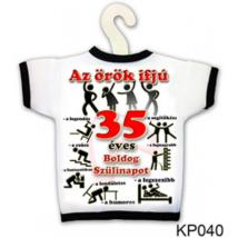 Üvegre húzható póló 35. születésnapra