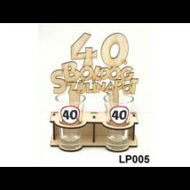 Fa pálinka tartó -  40. születésnapra