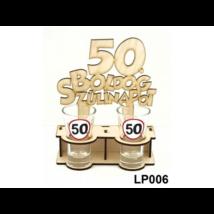 Fa pálinka tartó -  50. születésnapra