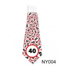 Lépd át a határt' nyakkendő 40. születésnapra