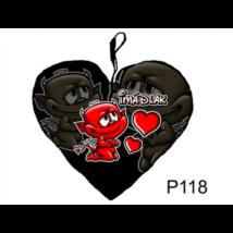 Imádlak ördög szív alakú párna 36 x 45 cm