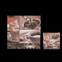 Kávés szalvéta 33 x 33 cm 3 rétegű 20 db/cs