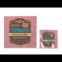 Piros cookies szalvéta 33 x 33 cm 3 rétegű 20 db/cs