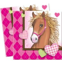 Pink lovas szalvéta 33 cm x 33 cm 2 rétegű 20 db/cs