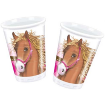Pink lovas pohár 200 ml 10 db/cs