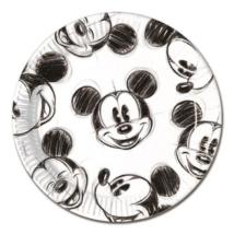 Mickey Face 23 cm-es papír tányér 25 db/cs