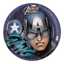 Bosszúállók-Captain America 23 cm-es papírtányér 8 db/cs