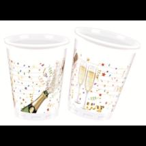 Pezsgősüveges műanyag pohár 8 db/cs