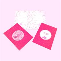 Meghívó+ boríték 10db/cs-Pink