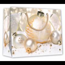 Dísztasak fehér-barack karácsonyi gömb 32 x 26 cm
