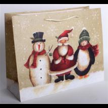 Dísztasak hóember, mikulás, pingvin 33 x 26 cm