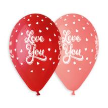 33 cm-es Love you szíves printelt lufi 50 db/cs