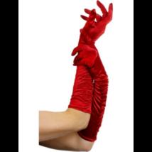 Piros félhosszú kesztyű 46 cm