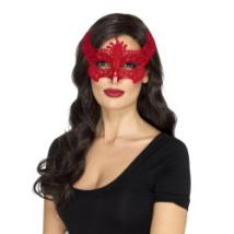 Piros női maszk