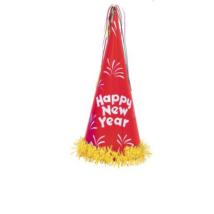 Happy New Year csillámos csákó különböző színekben 46 cm