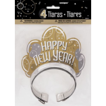 Happy New Year tiara 4 db/cs