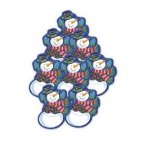 Hóemberes függő dekoráció 12 cm 8 db/cs
