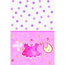 It's a girl rózsaszín műanyag asztalterítő