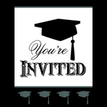 You are invited meghívó ballagásra 8 db/cs