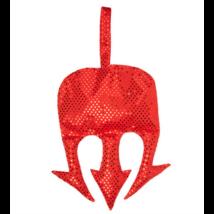 Ördögvilla formájú piros flitteres táska