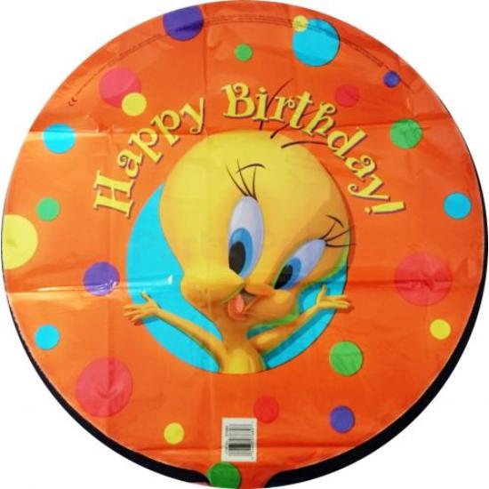 45 cm-es  Csőrike Happy Birthdayfólia lufi