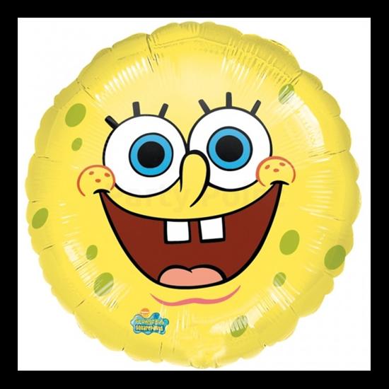 45 cm-es Spongya Bob mosolya fólia lufi