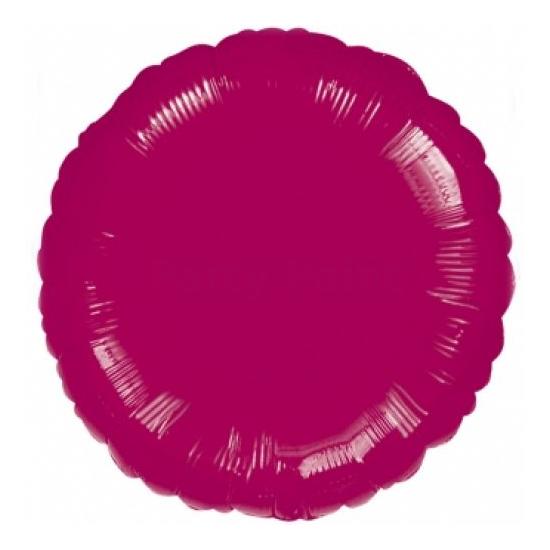 45 cm-es kerek bordó fólia lufi