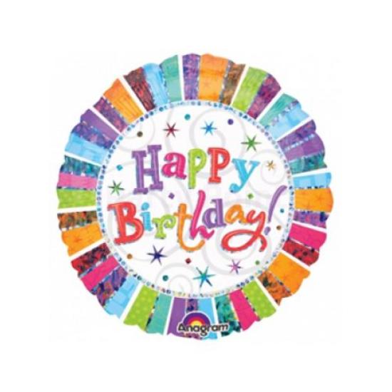45 cm-es Radiant Happy Birthday fólia lufi