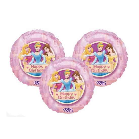 45 cm-es Princess Happy Birthday 3D fólia lufi