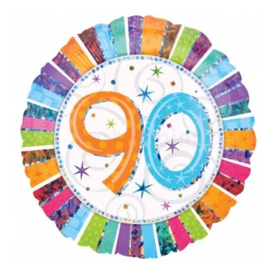 45 cm-es Radiant Happy Birthday 90 fólia lufi