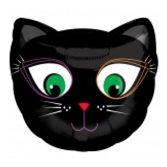 45 cm-es Fekete macska fólia lufi