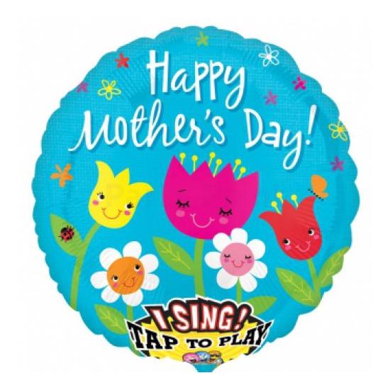 Sing-a-Tune-Zenélő Happy Mother's Day fólia lufi