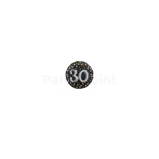 43 cm-es Happy Birthday 30. arany-ezüst  prizmás fólia lufi