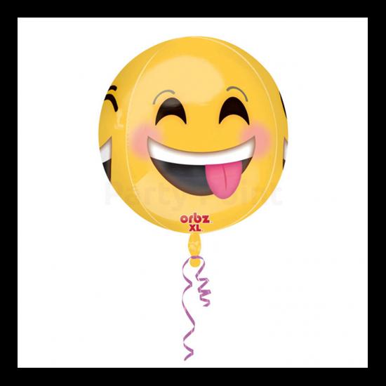 Emoji orbz gömb alakú fólia lufi
