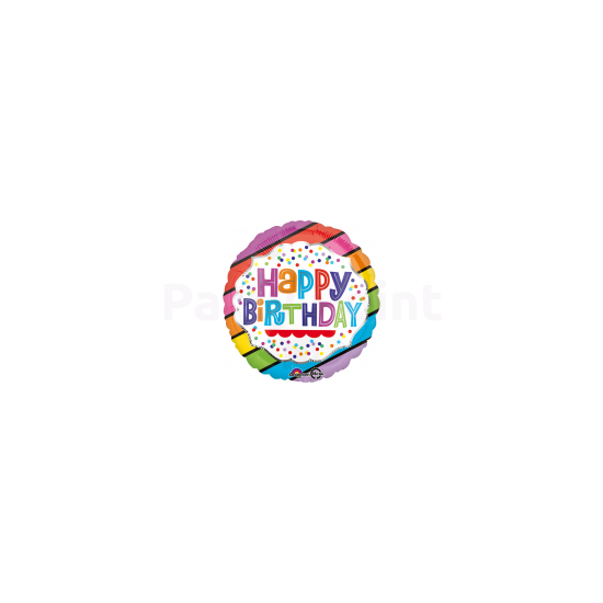 45cm-es Happy Birthday fólia lufi