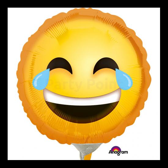 23 cm-es Smiley nevető fólia lufi