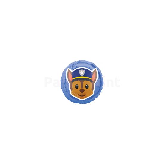 45cm-es Mancs őrjárat kék fólia lufi