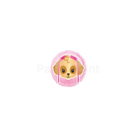 45cm-es Mancs őrjárat rózsaszín fólia lufi