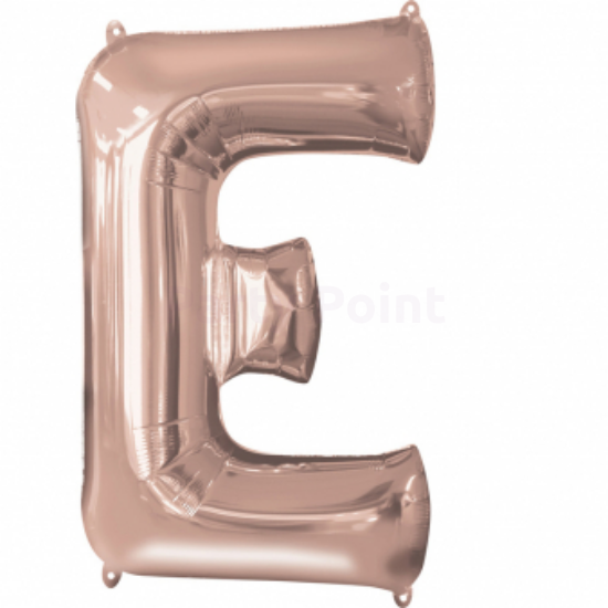 Super Rosegold E betű fólia lufi