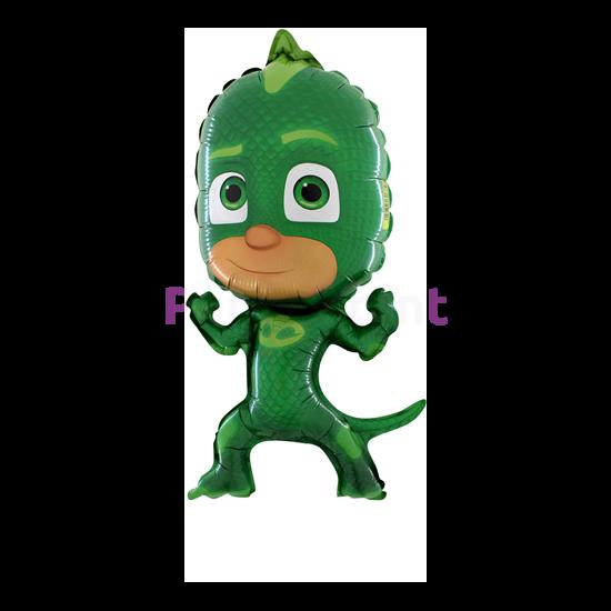 Super PJ Maszk zöld fólia lufi