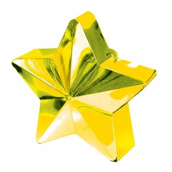 Arany színű csillag alakú lufisúly