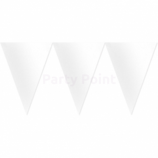 Fehér zászló dekoráció 450cm